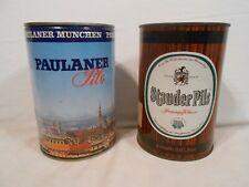 New listing Lot of 2 German Gallon Beer Cans - Paulander Pils 4 L & Stauder Pils 3.8 L