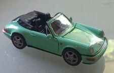 Porsche 911 Carrera 2 Cabrio 964 Baujahr 1988-1994 türkis grün 1:43 Metallmodell
