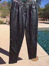 Harley Davidson HD Motorcycle Lined Leather Pants Women Sz 12 Biker Black