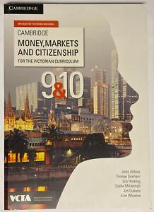 New CAMBRIDGE Money, Markets and Citizenship Victorian Curriculum 9&10 VCTA 9 10