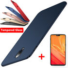 For One Plus 8 7 7 Pro 6T 6 5T 5 3 Slim Matte Hard Case Cover + Tempered Glass