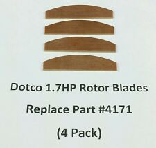 DOTCO Rotor Blade Sets For 1.7HP Air Tools, Replaces Part # 4171 (Set Of 4)