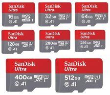 SanDisk Ultra 16GB 32GB 64GB 128GB 200GB 256GB 400GB 512GB microSD microSDXC LOT