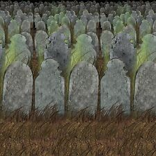 Graveyard Halloween Scene Setter Room Roll Backdrop Party Decoration