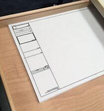A2 Blank Drawing sheet, 112gsm Natural Tracing Paper, tube of 25