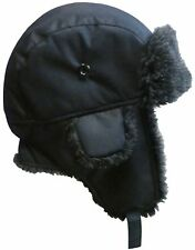 NICE CAPS Men's Cold Weather Taslon Trapper Hat with Flaps