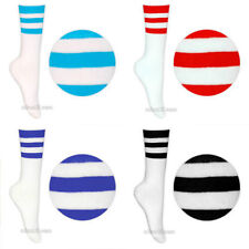 Ankle-High Cotton Blend Striped Socks for Women