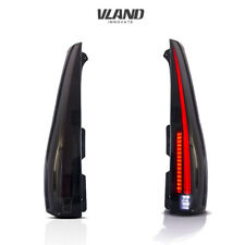 VLAND LED Tail Lights For Cadillac Escalade ESV 2007-2014 Smoked Black Out