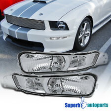 For 2005-2009 Ford Mustang Front Bumper Lights Signal Lamps