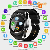V8 Bluetooth Smart Watch 0.3MP Camera SIM Slot for Android Samsung Apple iPhone