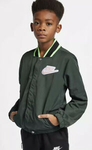 $80 Nike Sportswear Hoopfly Jacket Boy's Size XL Big Kids Green AQ9430-346 NWT