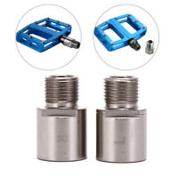1 pair steel bike pedal extenders bicycle pedal spacers for road bicycle pedQ9Q