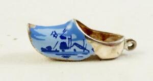 Vintage Ceramic Dutch Clogs Charm Or Pendant