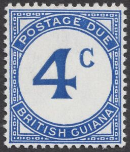 "British Guina 1952 KGVI Postage Due SG D3 Thin ""C"" Error FMLHOG SEE DESCR."