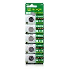 ECR1632 DL1632 KCR1632 LM1632 CR1632 3V Button Coin Cell Battery Bulk Lot 5 Pcs