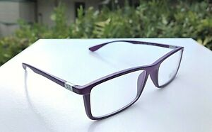 NWOT Ray-Ban Eyeglasses Purple Frames RB 7048-5443 (Demo Lens) 56-17-145