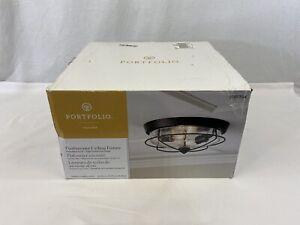 Portfolio Valdara Flushmount Ceiling Fixture 0749354