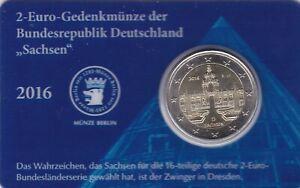 coincard 2 euro allemagne 2016 D le palais Zwinger de Dresde - Saxe