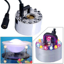 12 LED luce ad ultrasuoni Mist Maker Fogger purificare l'acqua fontana laghetto GA