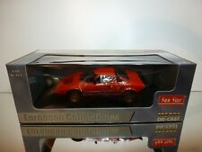 SUNSTAR 4521 LANCIA STRATOS STRADALE 1975 - RED 1:18 - EXCELLENT IN BOX