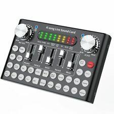 Professional Sound Karaoke Microphone Voice Music Audio Live Sound Card USB Head
