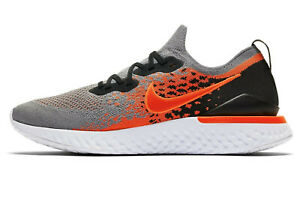 NIKE EPIC REACT FLYKNIT 2 Running Trainers Gym  UK Size 6 (EUR 39) Cool Grey Red