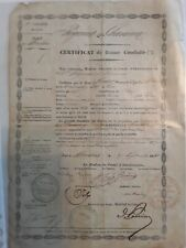 Certificat de bonne conduite/ 1851/Régiment de chasseurs