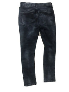 M&S Washed Dark Blue Boys Skinny Jeans Age 10-11 Years