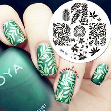 Feuilles Ongle Nail Art Stamping pochoir Template Image plaque BORN PRETTY 19