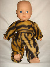 """Animal Print soft furry rompers. Fit  Baby Annabell/Baby Born 16""""/18"""" Doll"""