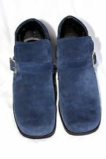 Markon Suede Silver Buckle Blue Ankle Boots Size 9