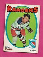 1971-72 OPC # 40 RANGERS BRAD PARK VG  CARD (INV# J0366)