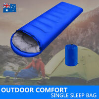 -20°C Outdoor Camping Sleeping Bag Single Envelope Tent Hiking Thermal Winter AU