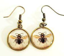 Insect Honey Bee Earrings Jewellery Gift Silver Tone NEW Dangle Hanging Ear Hook