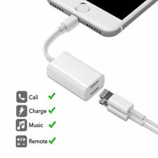 2 in 1 Lightning to Dual Headphone Adapter Charge Cable For iPhone 7 Plus