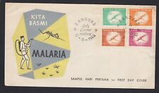 1960 Bandung MALAWI Africa KITA BASMI MALARIA Mosquito Control FDC Cover