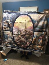 "Thomas Kinkade ""Sunrise"" Lighthouse Throw 60"" x 50"" New"