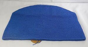 "Heritage Lace Mode Crochet Round Basket / 12"" x 12"" / Cobalt Blue / T2"