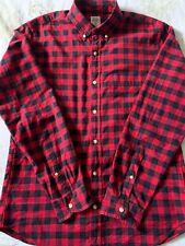 J.CREW Shirt Size Medium Slim Fit Oxford Red Blue Check Button Down Top M Men
