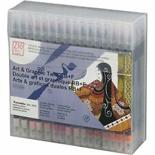 Kuretake ZIG ART & GRAPHIC TWIN RB+F 80 Colors Set TUT-95/80V
