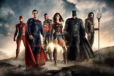 "The flash Wonder Woman Superman Justice League movies poster 12""X18"" silk print"