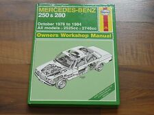 Mercedes W123 250 / 280 1976-1984 Haynes Reparaturanleitung WERKSTATT HANDBUCH