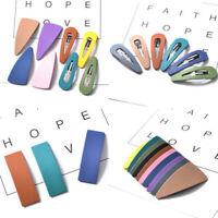 Acrylic Snap Hairpin Barrette Pins Hair Bows Hair Clips Women Hair Accessories