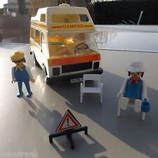 "PLAYMOBIL - ANCIEN CAMPING CAR "" CAMPER "" Vintage 70s"