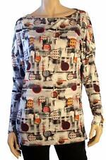 "BNWT John Galliano Gray ""Spots"" Oversized Blouse Size S"