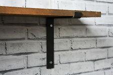 Metal Shelf Brackets 200mm Scaffold Board Industrial Steel Shelving (Set of 2)