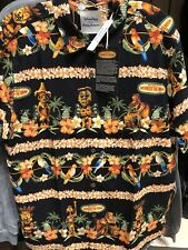 Disney Parks Tommy Bahama Enchanted Tiki Room Hawaiian Shirt Mens 2XL