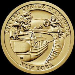 """2021 P American Innovation New York Dollar """"Brilliant Uncirculated"""" US Coin"""