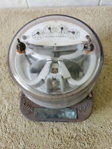 Vintage General Electric single phase watt hour meter (type I-14) 10 amp