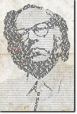 Isaac Asimov tipografico POSTER UNIQUE ART PRINT PHOTO REGALO preventivo IO ROBOT